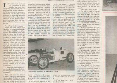 1932 16 05 Bol d'Or 1er Cat. Course C.A. Martin Amilcar MCO G.H. (la Vie de l'Auto n° 84-07 1984) 1