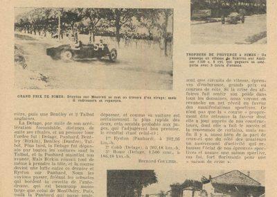 1932 16 05 GP de Nîmes 1er 1100 Scaron Amilcar MCO. 2