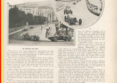 1932 17 04 GP Monaco, 1er Nuvolari Alfa, 6eme Willams Bugatti 51. 1