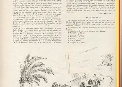 1932 17 04 GP Monaco, 1er Nuvolari Alfa, 6eme Willams Bugatti 51. 2
