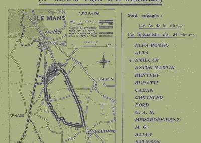 1932 18-19 06 G.P. d'Endursance de 24 heures au Mans, C.A. Martin Amilcar 6 cyl.-4, n°29, 1er de Cat. et 8ème au général, devant Cabantous-Salmson 9ème et dernier sur 33 engagés. 1