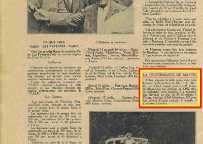 1932 18-19 06 G.P. d'Endursance de 24 heures au Mans, C.A. Martin Amilcar 6 cyl.-4, n°29, 1er de Cat. et 8ème au général, devant Cabantous-Salmson 9ème et dernier sur 33 engagés. 10
