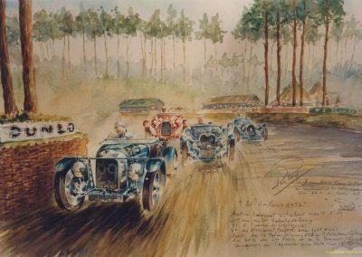 1932 18-19 06 G.P. d'Endursance de 24 heures au Mans, C.A. Martin Amilcar 6 cyl.-4, n°29, 1er de Cat. et 8ème au général, devant Cabantous-Salmson 9ème et dernier sur 33 engagés. 2