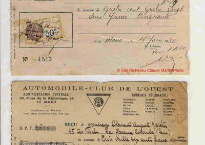 1932 18-19 06 G.P. d'Endursance de 24 heures au Mans, C.A. Martin Amilcar 6 cyl.-4, n°29, 1er de Cat. et 8ème au général, devant Cabantous-Salmson 9ème et dernier sur 33 engagés. 26