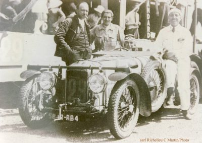 1932 18-19 06 G.P. d'Endursance de 24 heures au Mans, C.A. Martin Amilcar 6 cyl.-4, n°29, 1er de Cat. et 8ème au général, devant Cabantous-Salmson 9ème et dernier sur 33 engagés. 6