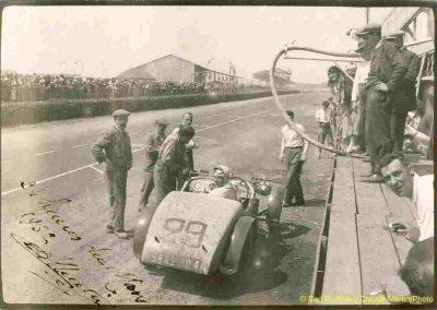1932 18-19 06 G.P. d'Endursance de 24 heures au Mans, C.A. Martin Amilcar 6 cyl.-4, n°29, 1er de Cat. et 8ème au général, devant Cabantous-Salmson 9ème et dernier sur 33 engagés. 7