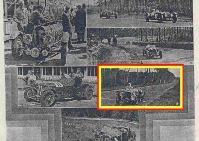 1932 18-19 06 G.P. d'Endursance de 24 heures au Mans, C.A. Martin Amilcar 6 cyl.-4, n°29, 1er de Cat. et 8ème au général, devant Cabantous-Salmson 9ème et dernier sur 33 engagés. 9
