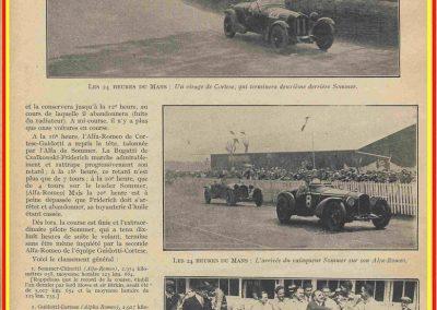 1932 18-19 06, les 24 heures du Mans, C.A. Martin Amilcar 6 cyl.-4, n°29, 1er de Catégorie et 8ème au général, devant G. Cabantous Salmson 9ème et dernier sur 25 partants. 19