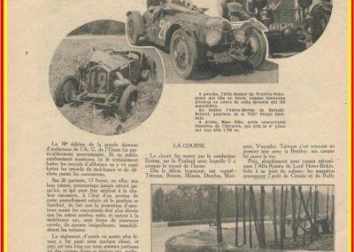 1932 18-19 24 heures du Mans C.A. Martin 8ème Amilcar C6-4. 2