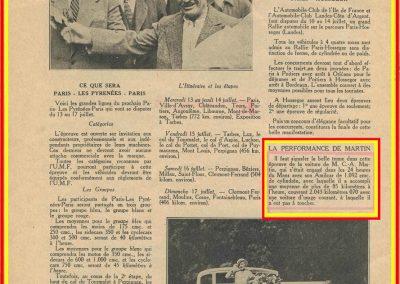 1932 18-19 24 heures du Mans C.A. Martin 8ème Amilcar C6-4. 4