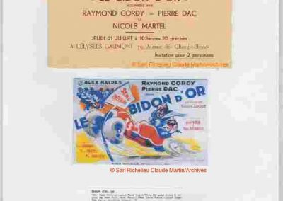 """1932 21 07 """"le Bidon d'Or"""" Film de Christian-Jaque (Cordy, Dac, Martel) à Montlhéry, pour lequel C.A. Martin (mon Père) a apporté l'Amilcar MCO GH et 2 CO, pour le tournage.1 - Copie"""