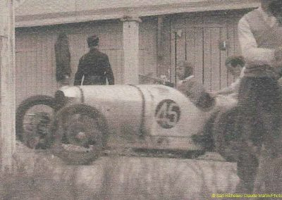 """1932 21 07 """"le Bidon d'Or"""" Film de Christian-Jaque (Cordy, Dac, Martel) à Montlhéry. L'Amilcar CO n°45 Bodoignet (à remarquer l'Ours). 5"""