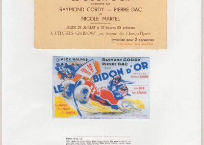 """1932 21 07 Film de Christian-Jaque, """"le Bidon d'Or"""" R. Cordy, P. Dac, N. Martel. C.A. Martin, Bodoignet et Raph sur l'Amilcar CO n°45, la 47 et la n°46 MCO GH. 1"""