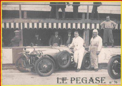 1933 01-02 07 GP (le 10ème) de 24 h. Circuit de Spa-Francorchamps, C.A. Martin, Amilcar 6cyl.-4, 1er Cat. 1100, de Garvardie et Duray, 2090 km, 19ème au Clas. général. 3