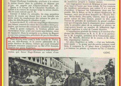 1933 01-02 07 GP (le 10ème) de 24 h. Circuit de Spa-Francorchamps, C.A. Martin, Amilcar 6cyl.-4, 1er Cat. 1100, de Garvardie et Duray, 2090 km, 19ème au Clas. général. 9