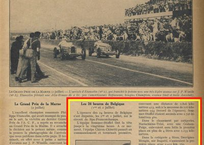 1933 01 07 GP le 10ème 24 heures du RAC Belge Circuit de Spa. C.A. Martin, de Garvardie et Duray 2090 km Amilcar C6-4. 1100cc. 8
