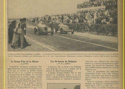 1933 02 07 GP Marne (Reims) Wimille à 1mètre d'Etancelin les 2 sur les Alfette. 24 h. Belgique Chiron, Chinetti, Williams, Amilcar de Gavardie-Duray-Martin. 1