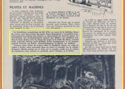 1933 03-05 06, Bol d'Or, 1er de Gavardie Amilcar MCO GH. Devant mon père (C.A. Martin) un accident l'oblige à grimper sur le bas côté, l'Amilcar se retourne mon père dessous. 10