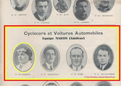 1933 03-05 06, Bol d'Or, 1er de Gavardie Amilcar MCO GH. Devant mon père (C.A. Martin) un accident l'oblige à grimper sur le bas côté, l'Amilcar se retourne mon père dessous. 8