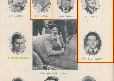 1933 03-05 06, Bol d'Or, 1er de Gavardie Amilcar MCO GH. Devant mon père (C.A. Martin) un accident l'oblige à grimper sur le bas côté, l'Amilcar se retourne mon père dessous. 9