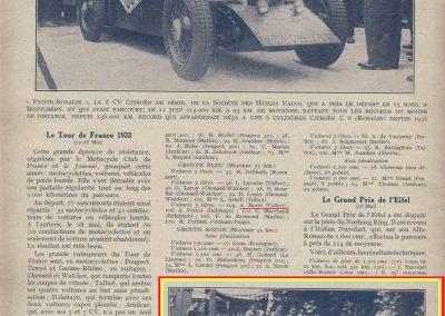 1933 03-05 06, Bol d'Or, 1er de Gavardie Amilcar MCO GH. Devant mon père (C.A. Martin) un accident l'oblige à grimper sur le bas côté, l'Amilcar se retourne sur mon père. 13