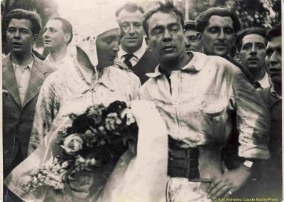 1933 05 06 Bol d'Or (12ème) 1er au clas. général, de Gavardie Amilcar MCO GH n°31, 1830 km. C.A. Martin, Amilcar 6cyl.-4, n°28 ab. à cause d'un accident produit devant lui, la nuit en sous-bois. 3