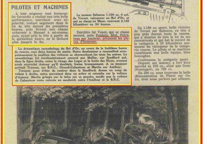1933 05 06 Bol d'Or (12ème) 1er au clas. général, de Gavardie Amilcar MCO GH n°31, 1830 km. C.A. Martin, Amilcar 6cyl.-4, n°28 ab. à cause d'un accident produit devant lui, la nuit. 11