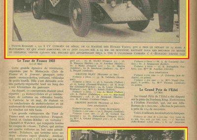 1933 05 06 Bol d'Or (12ème) 1er au clas. général, de Gavardie Amilcar MCO GH n°31, 1830 km. C.A. Martin, Amilcar 6cyl.-4, n°28 ab. à cause d'un accident produit devant lui, la nuit. 17