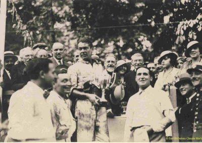 1933 05 06 Bol d'Or (12ème) 1er au clas. général, de Gavardie Amilcar MCO GH n°31, 1830 km. C.A. Martin, Amilcar 6cyl.-4, n°28 ab. à cause d'un accident produit devant lui, la nuit. 4