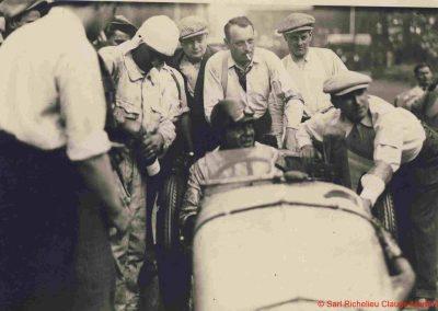 1933 05 06 Bol d'Or (12ème) 1er au clas. général, de Gavardie Amilcar MCO GH n°31, 1830 km. C.A. Martin, Amilcar 6cyl.-4, n°28 ab. à cause d'un accident produit devant lui, la nuit. 6