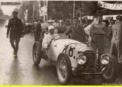 1933 05 06 Bol d'Or (12ème) 1er au clas. général, de Gavardie Amilcar MCO GH n°31, 1830 km. C.A. Martin, Amilcar 6cyl.-4, n°28 ab. à cause d'un accident produit devant lui, la nuit. 8