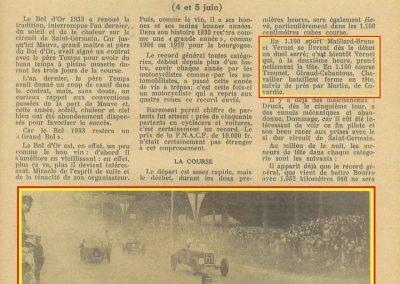 1933 05 06 Bol d'Or Amilcar Blot, Biolay, de Gavardie, Martin, Bodoignet, Poiré, Poulain, Raph, Druck, 12