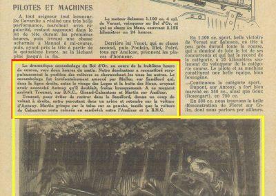 1933 05 06 Bol d'Or Amilcar Blot, Biolay, de Gavardie, Martin, Bodoignet, Poiré, Poulain, Raph, Druck, 14