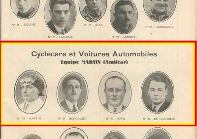 1933 05 06 Bol d'Or Amilcar Blot, Biolay, de Gavardie, Martin, Bodoignet, Poiré, Poulain, Raph, Druck, 3