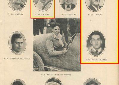1933 05 06 Bol d'Or. 1er au clas. général, de Gavardie Amilcar MCO GH n°31, 1830 km. C.A. Martin, Amilcar 6-4cyl. n°28, ab. à cause d'un accident produit devant lui, la nuit et en sous-bois. 5
