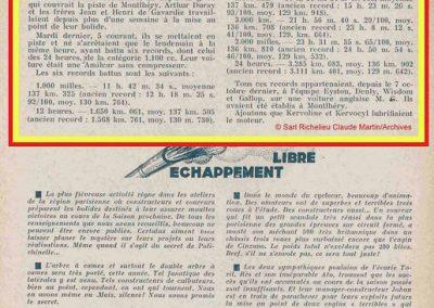 1933 05 12 Sur l'Amilcar de C.A. Martin, le MCO GH. 1100cc, Jean et Henri de Gavardie et Duray, battent 6 Records à Montlhéry dont 3.285 km en 24 heures à 136,902 km de moy. ! . 1