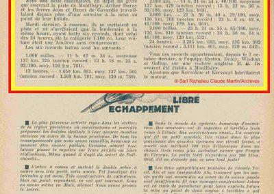 1933 06 12 Records (6 dont les 24 heures 3285 km) Duray, Jean et Henri de Gavardie (Amilcar 1100 de C.A. Martin). 1