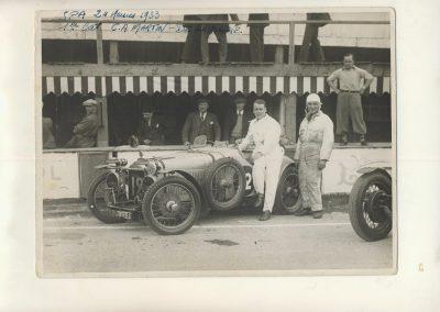 1933 07 07 les 24 h Spa, 19ème CA Martin, de Garvardie, Amilcar 2