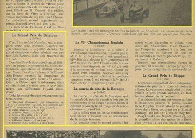 1933 09 07 GP Marne Etancelin Wimille Alfa, 24 h. Belgique Chiron Chinetti, Williams, Amilcar de Gavardie-Duret-Martin 2