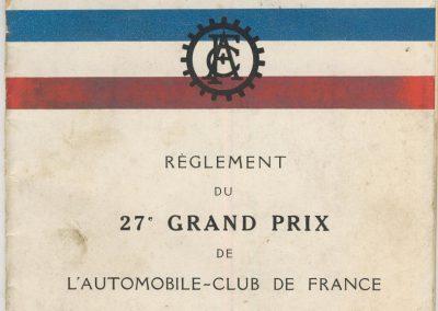 1933 11 06 GP de l'ACF (le 27ème). 1