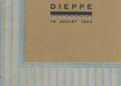1933 16 07 Circuit de Dieppe, Williams, Chiron, et Bouriat (Bugatti) Lord Howe (Delage) à Maison Blanche. 1