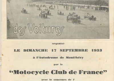 1933 17 09 GP de France, ACIF et MCF. Montlhéry, Raph Amilcar n° 27, C. A Martin 1er de Cat. n°12. 1