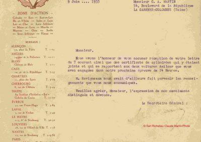 1933 17-18 06 GP d'Endurance 24 h. du Mans, 12ème, J.H. de Gavardie Amilcar-Martin 6 cyl, 1100cc, 2005 km n°34. C.A. Martin Amilcar n° 36 non classé (comme le Prince de Roumanie sur Du