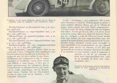 1933 17-18 06 GP d'Endurance 24 h. du Mans, 12ème, J.H. de Gavardie Amilcar-Martin 6 cyl, 1100cc, 2005 km n°34. C.A. Martin Amilcar n° 36 non classé (comme le Prince de Roumanie sur Duesenberg. 2