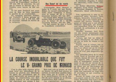 1933 23 04 Monaco 7ème Williams Bugatti 51, 24 Heures du Mans 12 ème de Gavardie-Martin 1er des 1100. 1