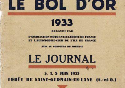 1933-Bol-d-Or-Programme
