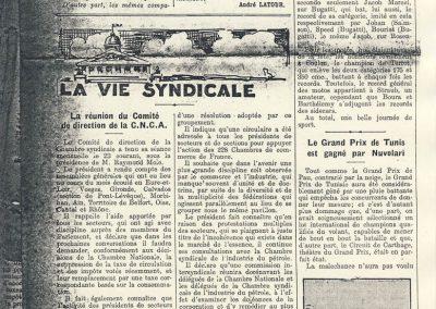 1933 GP Tunis 1er Nuvolari. Chanteloup 1er Scaron Amilcar 41,925 km-h. en1100, _
