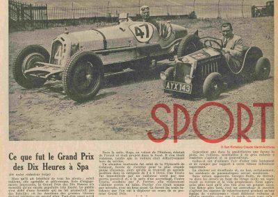 1934 07 GP de 10 heures à Spa Arthur Duray et à Indianapolis. 1