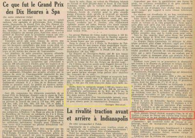 1934 07 GP de 10 heures à Spa Arthur Duray et à Indianapolis. 2