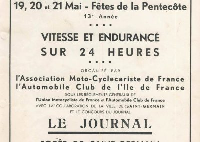1934 16-17 06 GP d'Endurance de 24 heures du Mans C.A. Martin-Pouse Amilcar 1100, 20ème, 5ème à la distance n°42, 2094 km. de Gavardie-Duray 13ème. 1